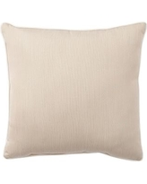 "Sunbrella(R) Contrast Piped Solid Indoor/Outdoor Pillow, 18"", Linen Sand"