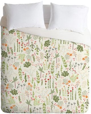 Twin/Twin XL Iveta Abolina Goodness Floral Duvet Set Green - Deny Designs
