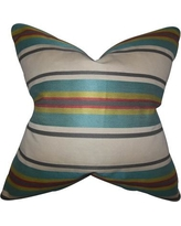 "The Pillow Collection Osric Stripe Throw Pillow P Size: 24"" x 24"""