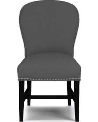 Maxwell Dining Side Chair without Handle, Performance Linen Blend, Graphite