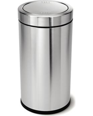 simplehuman 14.5 Gallon Swing Top Trash Can Brushed Stainless Steel CW1442