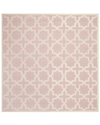 Safavieh Cambridge 8-Foot x 8-Foot Ana Wool Rug in Light Pink/Ivory