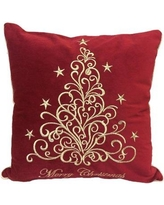 The Holiday Aisle Holidays Fancy Embroidered Velvet Throw Pillow THDA8363