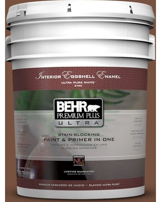 BEHR ULTRA 5 gal. #S200-7 Earth Fired Red Eggshell Enamel Interior Paint and Primer in One