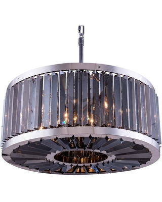 Chelsea 8 light polished nickel ChandelierSilver Shade (Grey) Royal C - One Size (One Size - Clear)