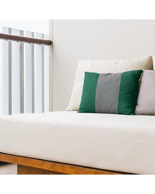 East Urban Home Dallas Hockey Indoor / Outdoor Striped Lumbar Pillow FCOK9176 Color: Victory Green/Silver/Victory Green