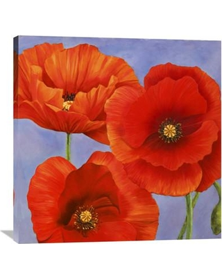 Savings On Global Gallery Dance Of Poppies Ii By Luca Villa Painting Print On Wrapped Canvas Canvas Fabric In Brown Blue Orange Wayfair