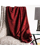 Union Rustic Lyke Faded Weave Blanket UNRT1327 Color: Red