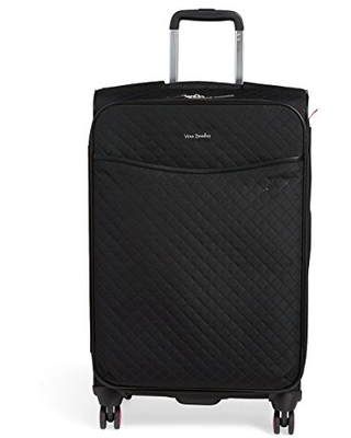"""Vera Bradley Women's Softside Rolling Suitcase Luggage, Classic Black, 27"""" Check In"""