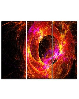 Discover Deals On Design Art Far Spherical Galaxy Red 3 Piece Graphic Art On Wrapped Canvas Set Canvas Fabric In Red Brown Size Medium 25 32 Wayfair