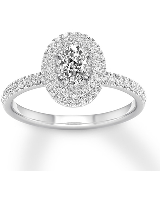 Jared Oval Diamond Engagement Ring 5/8 ct tw 14K White Gold