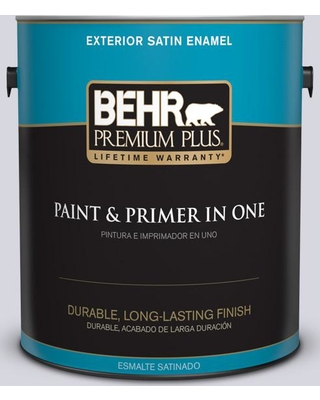 BEHR Premium Plus 1 gal. #MQ3-59 Will O the Wisp Satin Enamel Exterior Paint and Primer in One