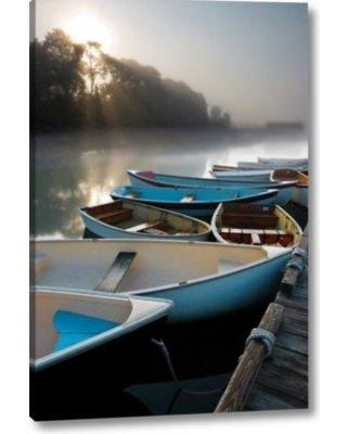 """Breakwater Bay 'Skiffs in The' Photographic Print on Wrapped Canvas BF156285 Size: 32"""" H x 21"""" W x 1.5"""" D"""