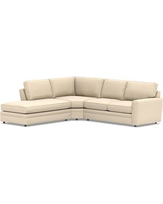 Pearce Square Arm Upholstered Right 3-Piece Bumper Wedge Sectional, Down Blend Wrapped Cushions, Performance Everydayvelvet(TM) Buckwheat