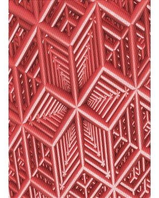 East Urban Home Geometric Wool Red Area Rug W001327038 Rug Size: Rectangle 5' x 7'