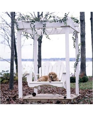 Uwharrie Chair Fanback Porch Swing 4052 Color: Persimmon (Distressed)