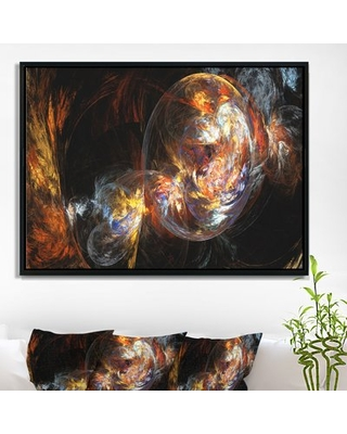 New Deal For Bubble Smoke Golden Framed Graphic Art Print On Wrapped Canvas East Urban Home Size 18 H X 34 W X 1 D