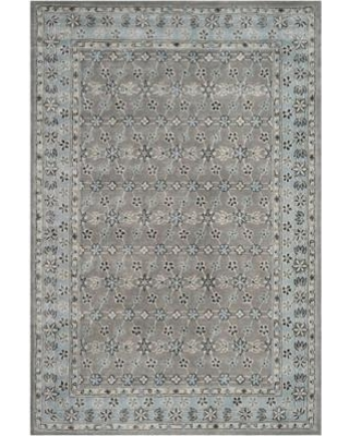 Charlton Home Blassingame Hand-Tufted Wool Gray/Blue Area Rug CHRL4971 Rug Size: Rectangle 4' x 6'