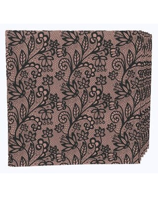 """Napkin Set, 100% Milliken Polyester, Machine Washable, Set Of 12, 18X18"""", Lace Floral Drawing Fabric Textile Products, Inc."""
