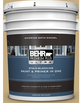 BEHR ULTRA 5 gal. #MQ2-29 Cliff Ridge Satin Enamel Exterior Paint and Primer in One
