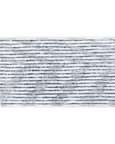 "Spacedye Striped Bath Rug (20""x34"") Gray/White - Threshold"