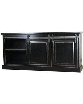 """Gracie Oaks Crowle TV Stand for TVs up to 65"""" W001408597 Color: European Burnt Black"""