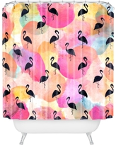 "Hello Sayang Dance Like A Flamingo Shower Curtain Pink 69"" x 72"" - Deny Designs"
