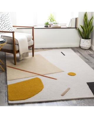 Here S A Great Deal On Primiano Hand Tufted Wool Beige Orange Rug Rug Size Rectangle 6 X 9