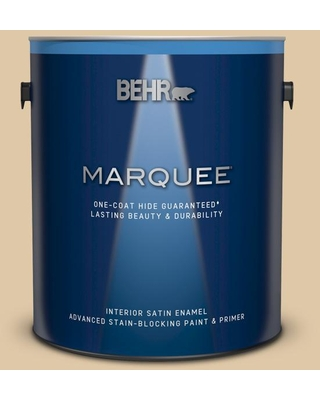 BEHR MARQUEE 1 gal. #PWL-82 Pita Bread Satin Enamel Interior Paint and Primer in One