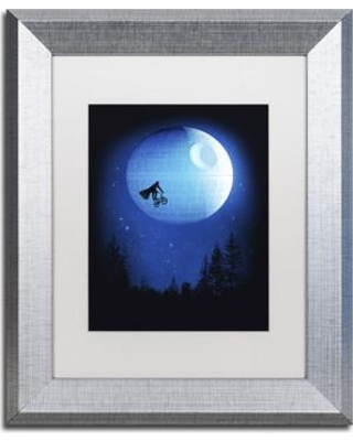 """Trademark Art 'Let's Have Fun Final' Matted Framed Painting Print on Canvas ALI2271-S1 Size: 14"""" H x 11"""" W x 0.5"""" D Matte Color: White"""