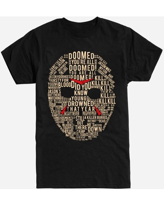 Friday the 13th Mask Word Collage T-Shirt