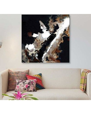 """East Urban Home 'Sepia' Graphic Art Print on Canvas EBHU7095 Size: 18"""" H x 18"""" W x 1.5"""" D"""