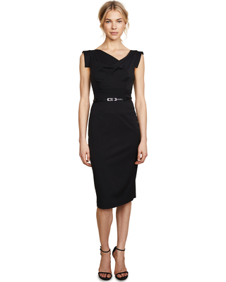 507dbf0c7c4 Find the Best Savings on Black Halo Jackie O Belted Dress