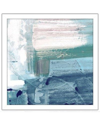 """Highland Dunes 'Miss the Sea IV' Framed Acrylic Painting Print BF126294 Size: 33.5"""" H x 33.5"""" W x 0.75"""" D"""