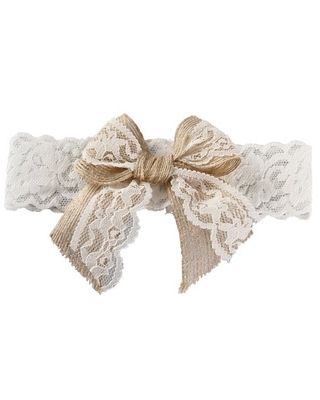 Ivy Lane Design Country Romance Bridal Garter, Medium, Ivory