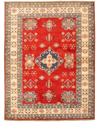 """Hand-knotted Finest Gazni Red Wool Rug (Red - 5'2"""" x 6'9""""/5'2 x 6'9)"""