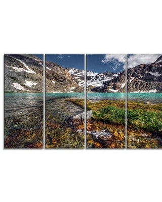 Design Art 'Crystal Clear Creek in Mountains' 4 Piece Photographic Print on Wrapped Canvas Set PT14619-271