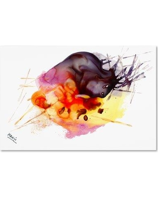 """Trademark Fine Art 'Abstract X' Painting Print on Wrapped Canvas MA0847-C Size: 16"""" H x 24"""" W x 2"""" D"""