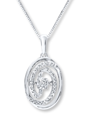 Jared The Galleria Of Jewelry Diamonds in Rhythm Necklace 1/5 carat tw Sterling Silver