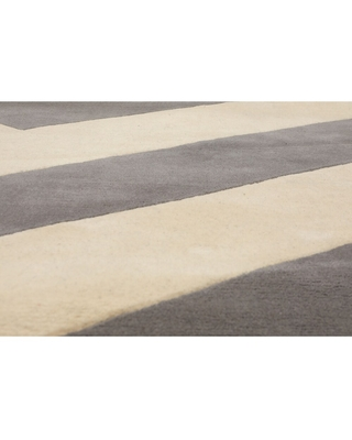"""5'4x7'6 Hand Tufted 100%Wool Graphic Oriental Area Rug Ivory, Grey Color - 5'4"""" x 7'6"""""""