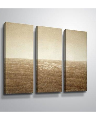 """Highland Dunes 'Sea at Sunrise' Multi-Piece Print on Wrapped Canvas HLDS2647 Size: 24"""" H x 36"""" W x 2"""" D Format: Wrapped Canvas"""