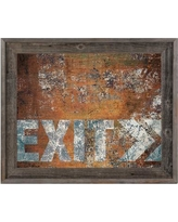 """Click Wall Art Urban Exit Right Framed Graphic Art on Canvas IND0000945FRM Size: 23.5"""" H x 33.5"""" W x 1"""" D"""