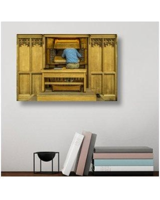 """East Urban Home 'Repairing the Organ' Photographic Print On Wrapped Canvas ERNH3077 Size: 16"""" H x 24"""" W x 1.5"""" D"""