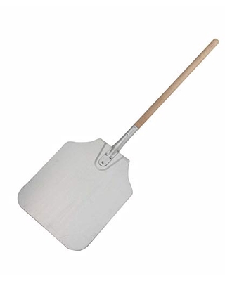 """Winco App-36 Pizza peel Over All Size 36""""Long, 12""""X14"""" Blade Size With Wooden Handle,Aluminum,Medium"""