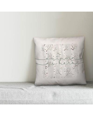 New Deals On Gracie Oaks Mccluskey Autumn Is Here Birch Trees Throw Pillow Polyester Polyfill Polyester Polyester Blend In Gray Silver Size 18x18 Wayfair