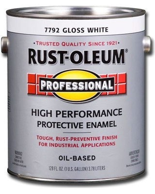 Rust-Oleum Professional Rust-Oleum Professional 1 gal  High Performance  Protective Enamel Gloss White Oil-Based Interior/Exterior Industrial Paint