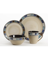 Gibson Elite Casa Azul Reactive Glaze 16 Piece Dinnerware Set Cream and Blue  sc 1 st  Real Simple & Summer Shopping Deals on Gibson Elite Dinnerware Sets