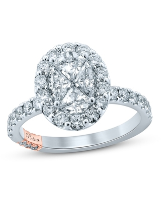 Jared The Galleria Of Jewelry Pnina Tornai For You My Love Diamond Engagement Ring 1-3/4 ct tw Pie/Round 14K Two-Tone Gold
