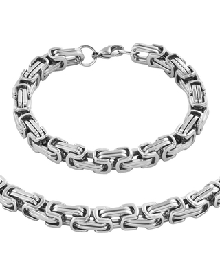 3b00ff4bf97 Get the Deal  Men s Stainless Steel Byzantine Chain Necklace and ...