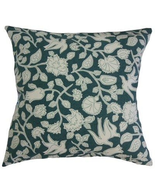 """Charlton Home Makaila Floral Cotton Pillow CRLM1338 Size: 20"""" x 20"""" Color: Jade"""